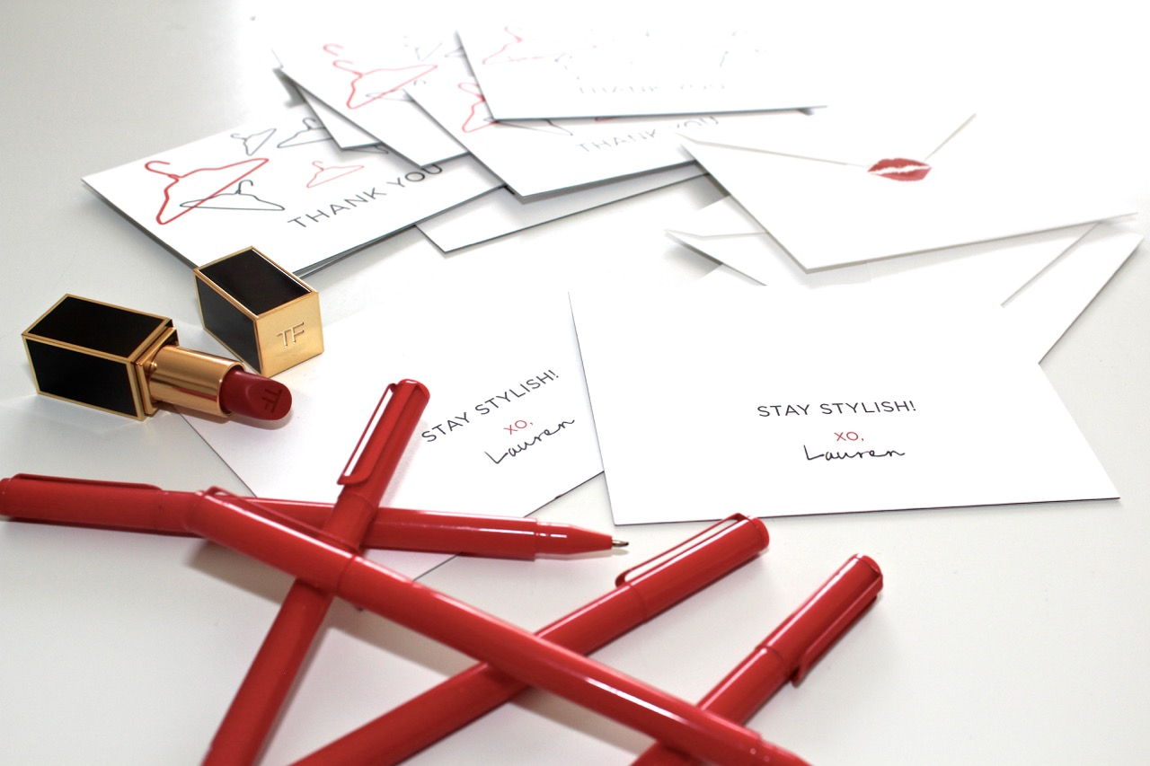 A look inside my personal styling stationery kit lauren messiah thank you cards because i am appreciative of all of the business that comes in the door magicingreecefo Gallery