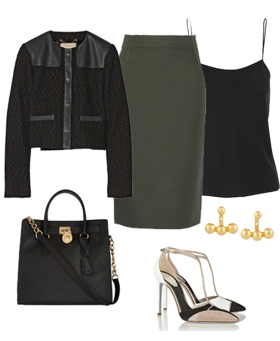 leather office look 1