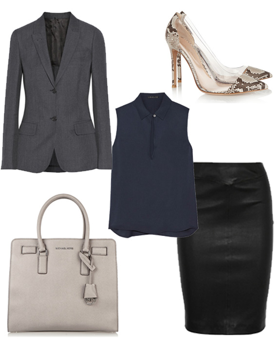 leather office look 3