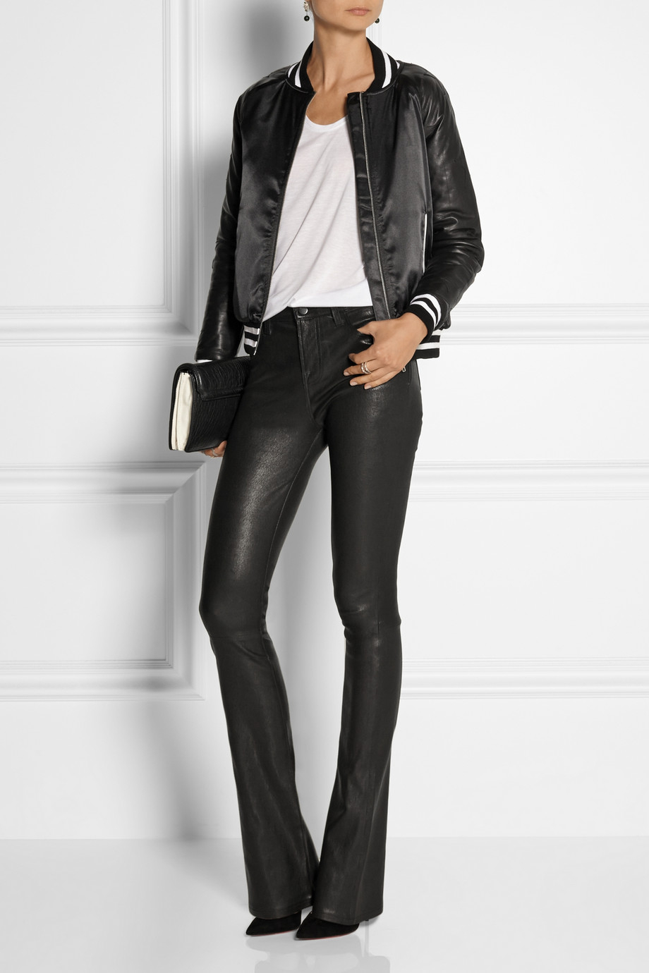 j-brand-black-remy-stretch-leather-bootcut-pants-product-1 ...
