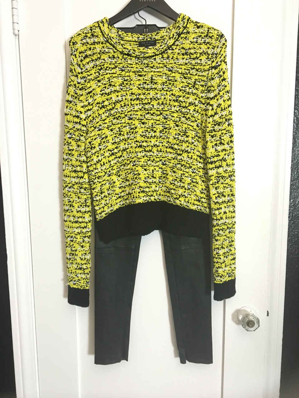 rag and bone yellow sweater