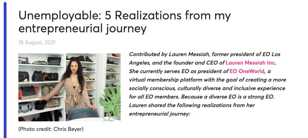 EO Blog Lauren Messiah